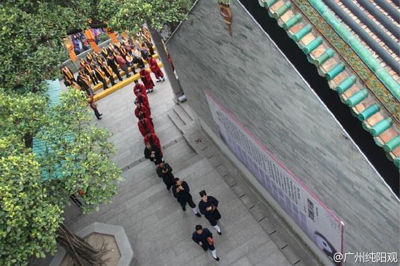 廣州純陽觀、香港青松觀及羅浮山黃龍觀等道侶於法會中繞壇