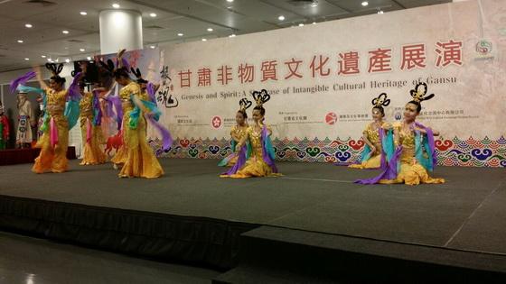 國家級和省級名錄項目的現場表演 - 舞蹈《飛天》