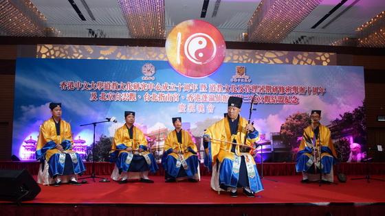 宜興周鐵城隍廟為晚會開幕表演無錫道教音樂