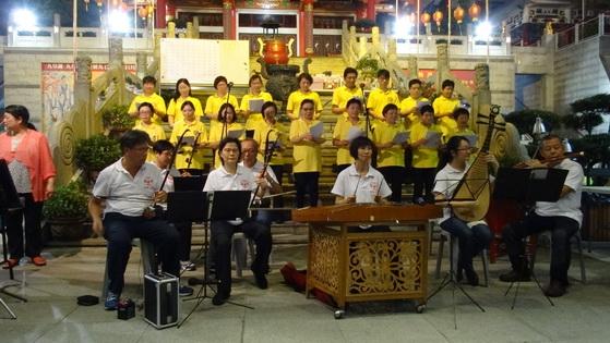 道教青年團演,香港道樂團伴奏