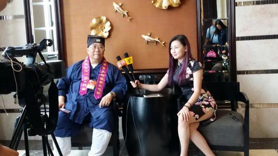 香港道教聯合會主席梁德華道長接受訪問