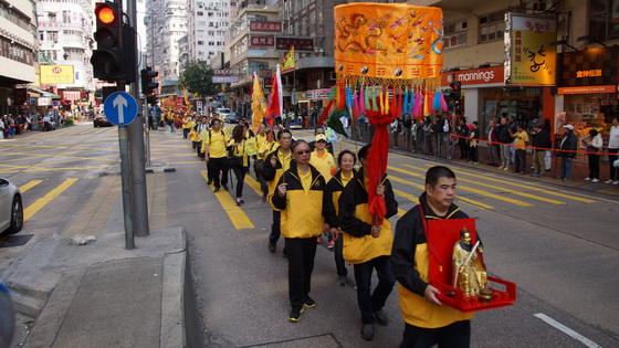 泓澄仙觀的張道陵天師巡遊隊伍