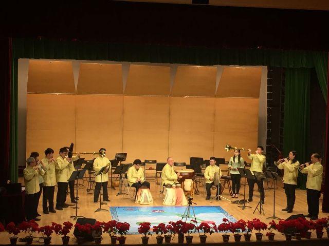 澳門道樂團在中國音學學院廳獻演「文武點降脣」