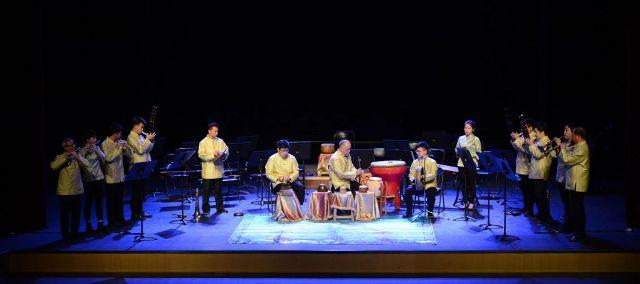 澳門道樂團在中國音學學院廳獻演富有澳門特色的喜慶道樂
