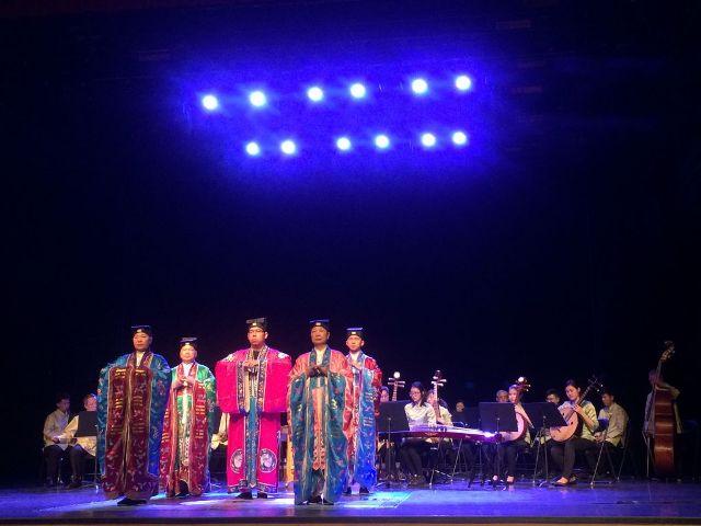 澳門道樂團及道協法務團在西安音樂學院獻演「太乙讚」
